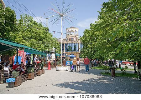 Boulevard On The Waterfront In The City Of Rostov-on-don