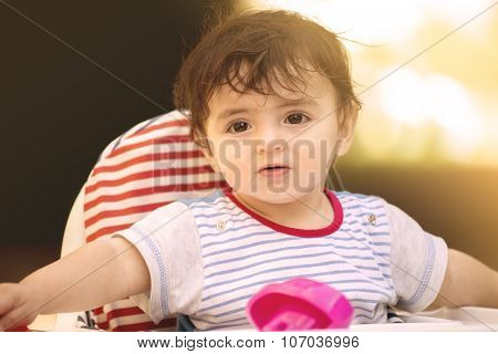 Child Is Surprised Warm One Applied
