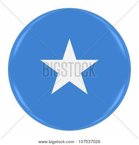 Somalian Flag Badge - Flag Of Somalia Button Isolated On White