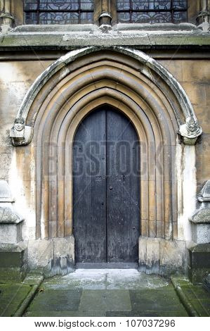 Norman arched doorway at Westminster Abbey