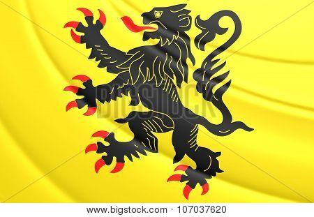 Flag Of Nord-pas-de-calais, France.