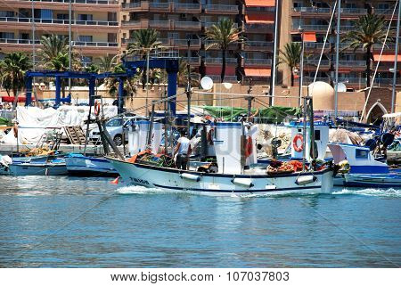 Fishing boats in Fuengirola harbour.