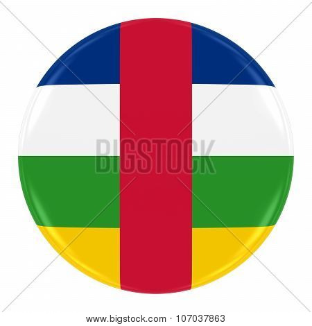 Central African Flag Badge - Flag Of The Central African Republic Button Isolated On White