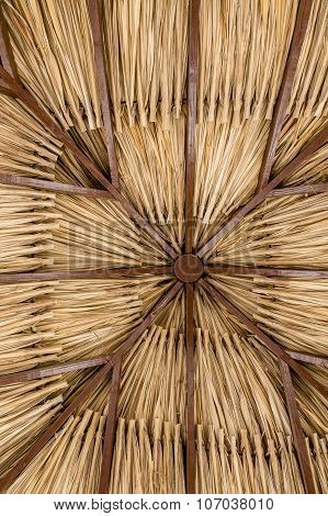 Thatched Roof Of Palm Fronds