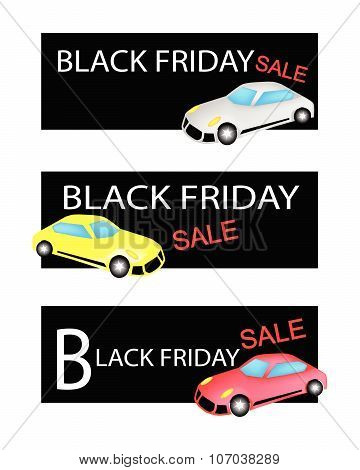 Sports Cars On Three Black Friday Sale Banners