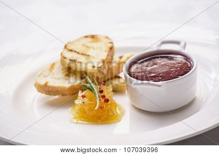 pate with toast