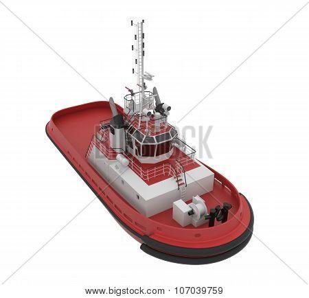 Tug Boat. 3d rendering.