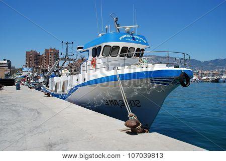 Fishing trawler, Fuengirola.