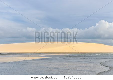 Sand Dunes On The Seaside In Jericoacora, Brazil