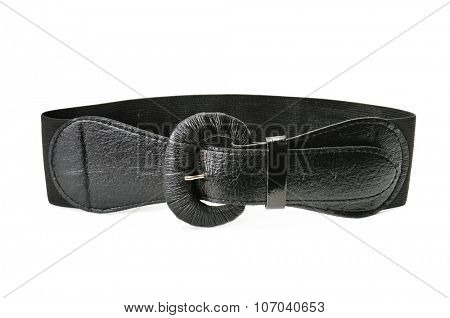 black belt isolated on white