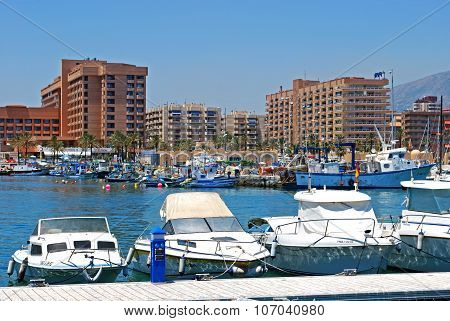 Fuengirola harbour.