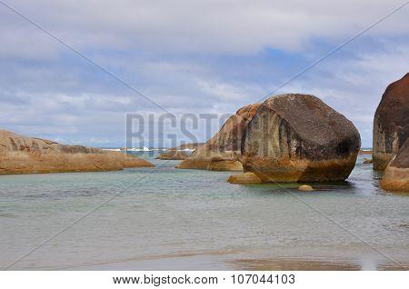 Elephant Rocks: Stormy Skies at Elephant Cove in Western Austalia