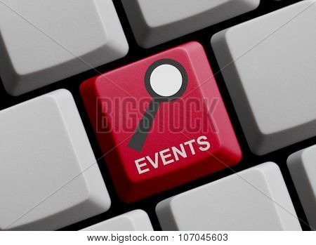 Computer Keyboard: Search For Events