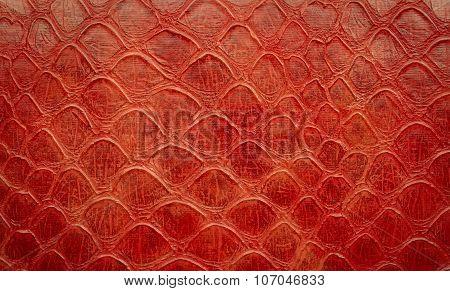 Red Snake Skin Imitation