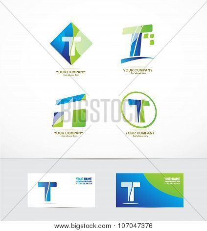 Letter T Logo Icon Set