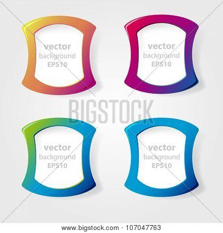 Set of bright labels. Vector.