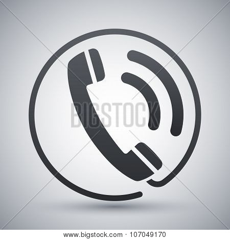 Telephone Receiver Icon, Stock Vector