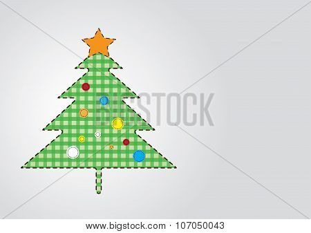 Christmas Tree in Green Shades