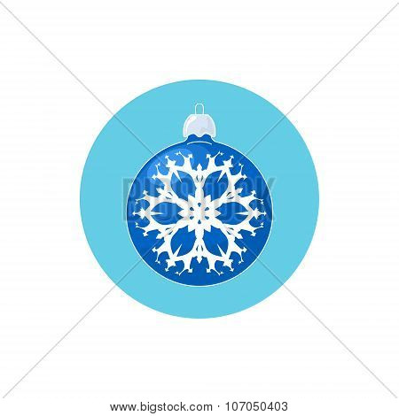 Icon Blue Ball with Snowflake