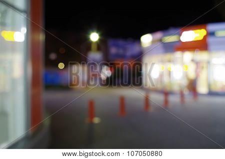 Night Urban Scene With Blurred Lights