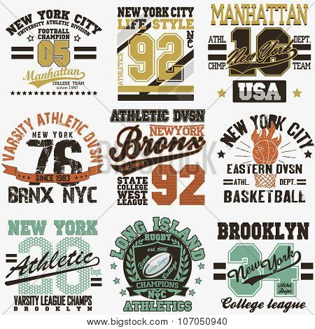 New York t-shirt set