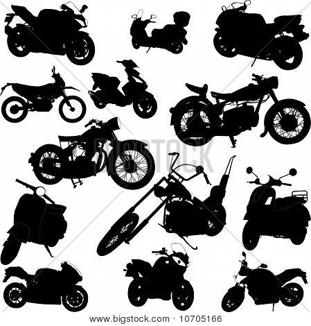 motorcycle collection vector