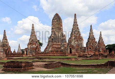 Chaiwatthanaram Temple In Ayutthaya, thailand