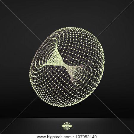 Torus. Connection Structure. Vector 3D Illustration.