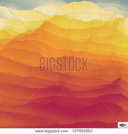 Mosaic. Abstract Polygonal Backgroun. Futuristic Design.Vector Illustration.
