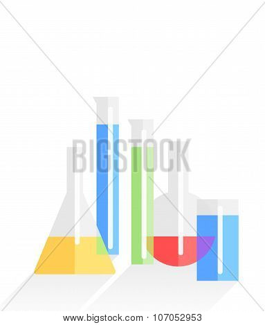 chemistry laboratory flat vector background