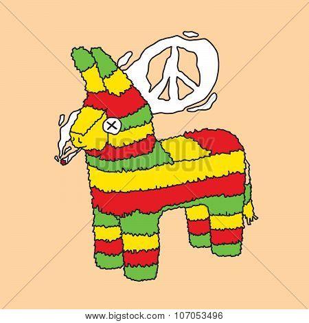 Rasta pinata vector illustration