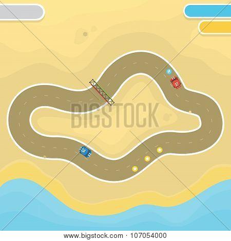 Race game desert landscape