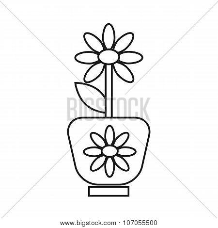 black potted plant flat