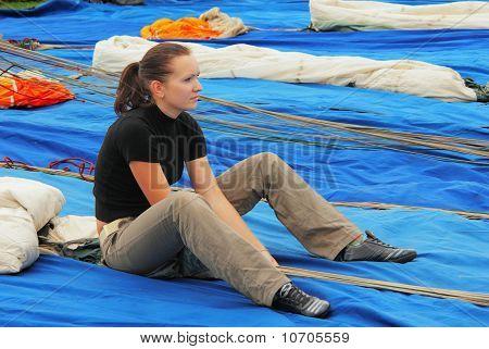 The Girl-parachutist Portrait