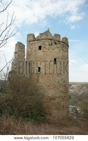 Circular Corner Tower Of Rudelsburg Castle, Germany