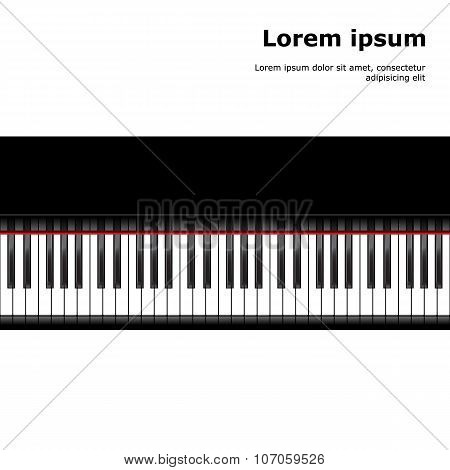 black and white piano template