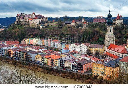 Medieval Town Burghausen, Bavaria, Germany