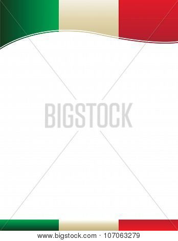 Mexican Flag Background Border