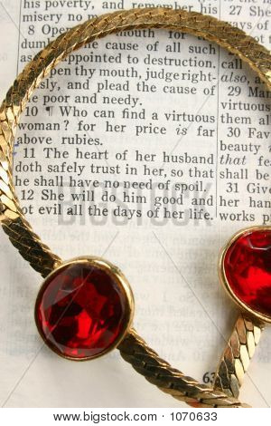 Rubies On Bible
