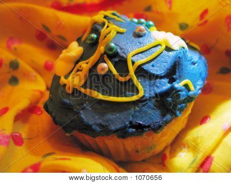 Blue Iced Cupcake