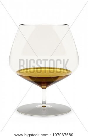 An image of a typical cognac glass isolated on white