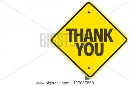 Thank You sign isolated on white background