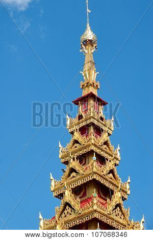 Golden Pagoda Under Blue Sky