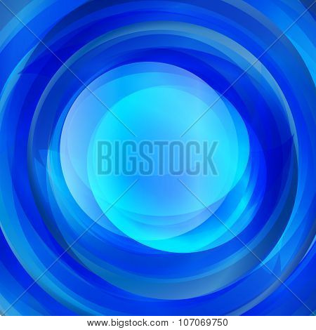 Abstract Blue Twirl Text Presentation Template