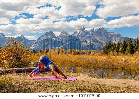 Practicing Yoga in the Tetons