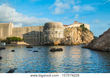 City of Dubrovnik, UNESCO site, old defense walls, fortress Bokar