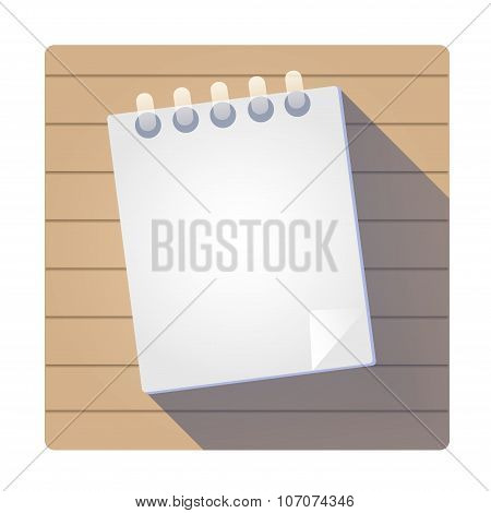 Notebook flat vector icon