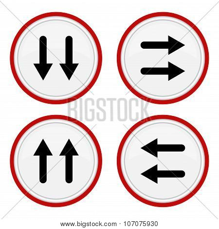 Set vector icons with arrows