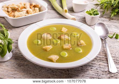 Green Leek Soup