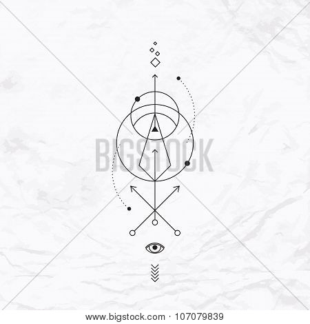 Geometric abstract mystic symbol